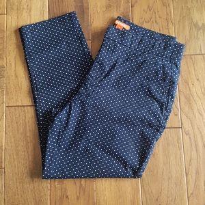 Joe Fresh Navy & White Polka Dot Pants Size 10